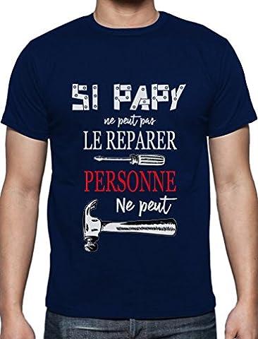 Grand-père peut tout réparer cadeau pour papy Noël humour T-Shirt