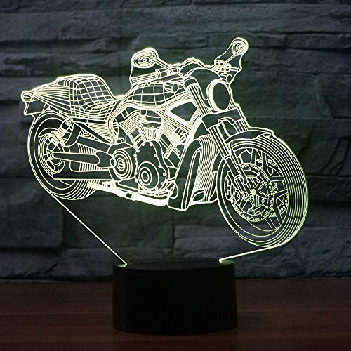 Lampe de table Motorcyle   Touch Night Light 7 Changement de couleur de motos Sleepar Lamparas Light USB 3D LED Lamp