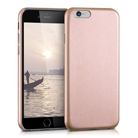 kwmobile Softcase housse pour Apple iPhone 6 / 6S avec une enveloppe en cuir synthétique - backcover étui housse de protection cover en or rose
