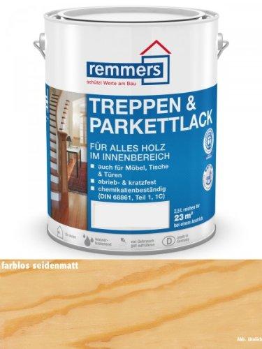 Preisvergleich Produktbild Remmers Aidol Treppen- & Parkettlack - farblos seidenmatt 2,5ltr