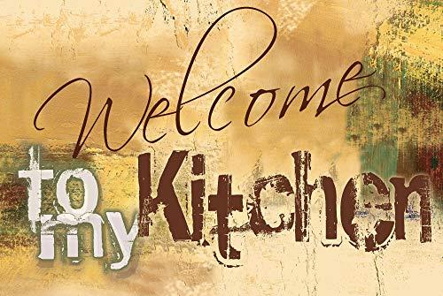 Artland Design Spritzschutz Küche I Alu Küchenrückwand Herd BxH: 90x60 cm sehr schnelle und einfache Montage Willkommen in meiner Küche