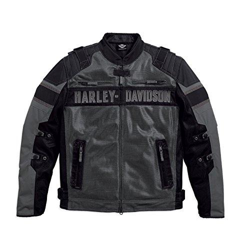 Harley Herren-jacken Davidson (Harley-Davidson Codec Textile/Mesh Riding Jacket 97141-17VM Herren Outerwear, grau/schwarz, XXL)
