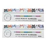 NUOLUX 2 Set Cute Cat Sticker Autocollant Memo Notes Sticker Signet Papier Label Balise Message Cadeau
