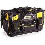 Stanley FatMax Werkzeugtasche / Transporttasche (50x30x29cm, schlagfester Boden, Aufbewahrungstaschen im Inneren, große Öffnung für leichten Zugang, aus robustem Material) FMST1-71180