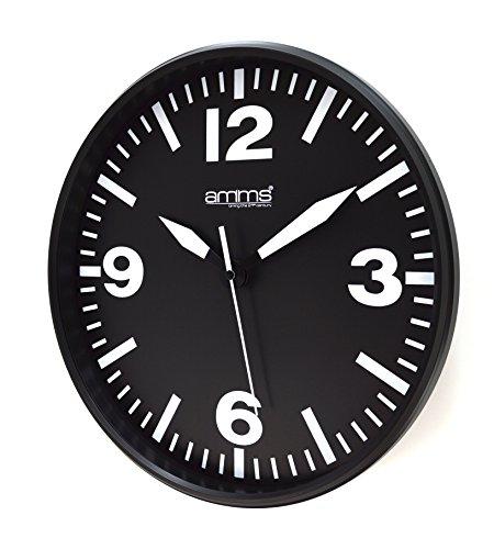 Elegante quadrante grande Bold Black & White 31cm orologio da parete al quarzo
