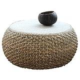 Japonais Rond Table Basse En Rotin Bois Massif Petite Vigne Thé Table En Osier Baie Vitrée Table Basse