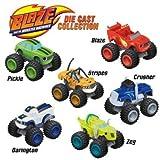 Nickelodeon Blaze & the Monster Machines 6 piece Die-Cast Cars Set (Blaze, Crusher, Pickle, Stripes, Darington, & Zeg) by Blaze and the Monster Machines