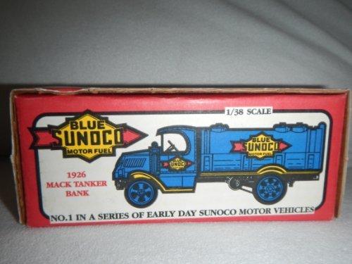 ertl-blue-sunoco-1926-mack-tanker-bank-138-scale-by-ertl