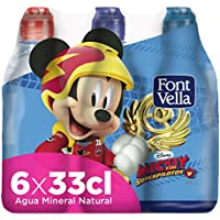 Font Vella Agua Mineral Natural con Tapón Infantil - Pack 6 x 33 cl