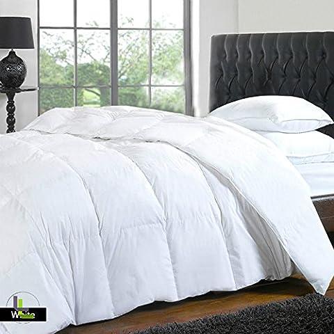 Elegante Finitura 4pcs set copripiumino lenzuolo con angoli in cotone egiziano 100%, 1000TC (tasca dimensioni: 21cm), Cotone, White Solid, Euro_Super_King_Extra_Long
