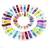 KEESIN 50 Pack Mixed Color Kunststoff Nähklammern, Cloth Clips, Binding Häkeln Clips, Craft Quilt Holding (20 klein + 30 groß)