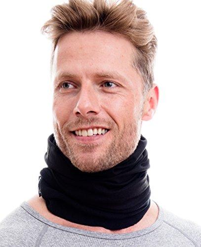 Hilltop Polar Multifunktionstuch mit Fleece, Kopftuch, Halstuch viele Farben, Farbe Polar Tuch:Schwarz