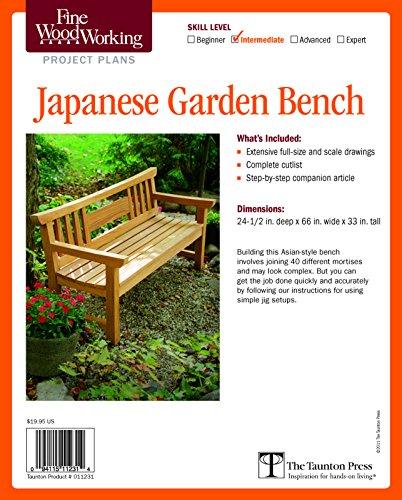 Fine Woodworking's Japanese Garden Bench Plan: Intermediate (Fine Woodworking Project Plans) - Bench Zubehör