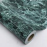 Glow4u Dunkelblau Wasserdicht Marmor Granit Look Kontakt Papier Selbstklebendes Vinyl Film Küche Tisch Duett Arbeitsfläche Regal Liner 24von 497,8cm