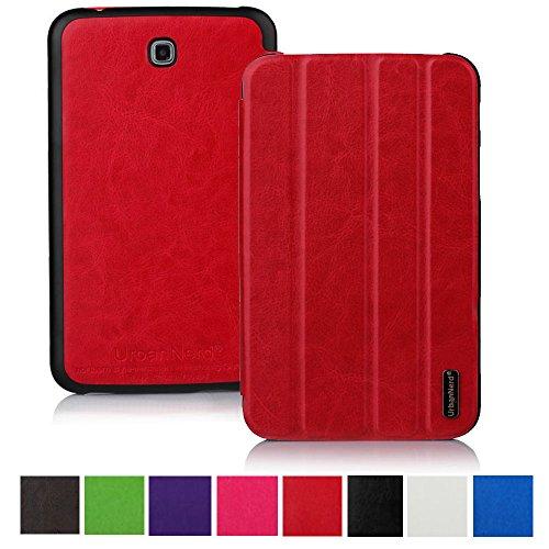 Smart Hülle für Samsung P5200 Galaxy Tab 3 7 Zoll - Tablettasche Tasche Cover Case Etui Schutzhülle in Rot (Galaxy Tab 3 7 Zoll Cover)