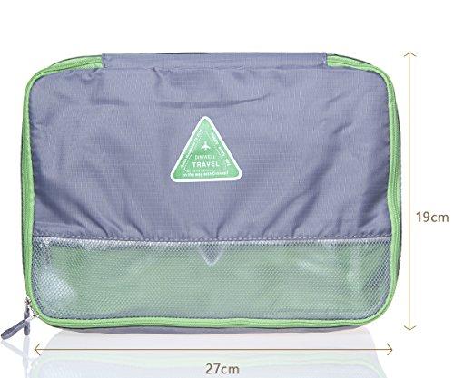Acxeon Reise Organizer Verpackung Cubes - Durable & Wasser-Resistant Oxford-Touch Reise Organizer Taschen (Grau) Grau