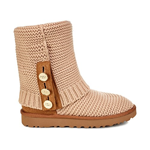 UGG Women's W Purl Cardy Knit Fashion Boot, Cream, 7 M US