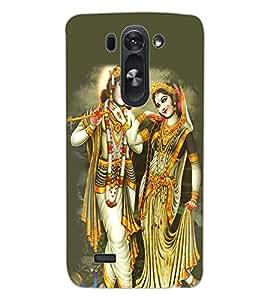 ColourCraft Lord Radha Krishan Design Back Case Cover for LG G3 BEAT