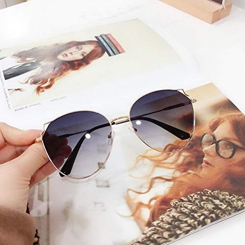 BHLTG Sonnenbrille Mädchen Herz Kleines Gesicht Kätzchen Ohren Sonnenbrille Frauen Retro Polygon Gradient Glasses-3