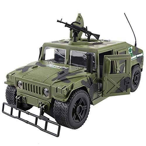 Kikioo Simulation Militärspielzeug Trägheitsmodelle aus Metalldruckguss Panzer Panzerwagen-Öffnungstüren mit Sound und Licht Pullback-Aktion Detailliertes Innenmodell 3 Jahre altes Kindergeburtstagsge