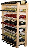Modo24Untreated Wooden Wine Rack, Wood, untreated, 63.0  x  25.0  x  102.0 cm