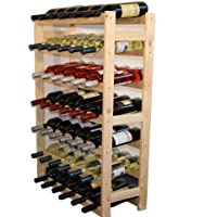 MODO24 Untreated Wooden Wine Rack, Wood, untreated, 63.0 x 25.0 x 102.0 cm