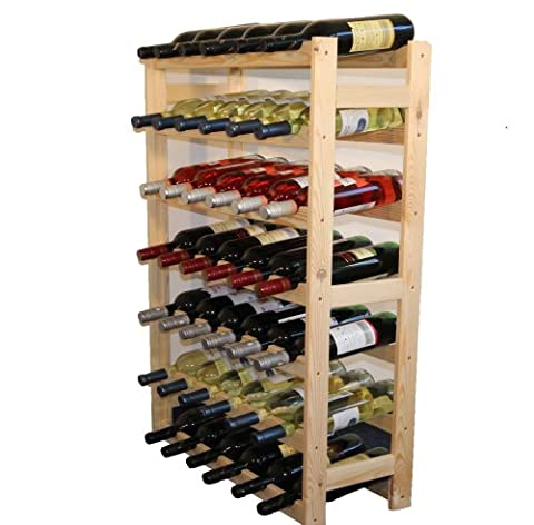 Wine Rack Wooden Shelf Bottle Shelf for 42 Bottles RW-1-42