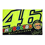 VR|46 Valentino Rossi Face Flag - The Doctor - Vale Yellow