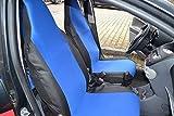 Sitzbezüge Schonbezüge vordere Blau - Schwarz Polyester Passgenau neu Hochwertig OVP