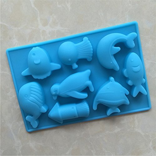 yl-sea-world-g124-silicone-cake-baking-mold-cake-pan-muffin-cups-handmade-soap-moulds-biscuit-chocol