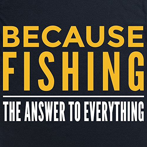 Because Fishing T-Shirt, Damen Schwarz