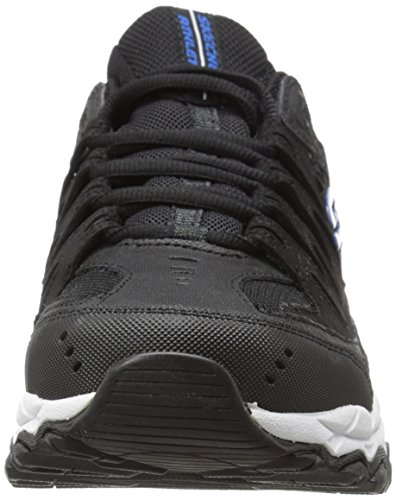Sneaker Skechers Sport Afterburn mousse à mémoire de lacets Black/Royal