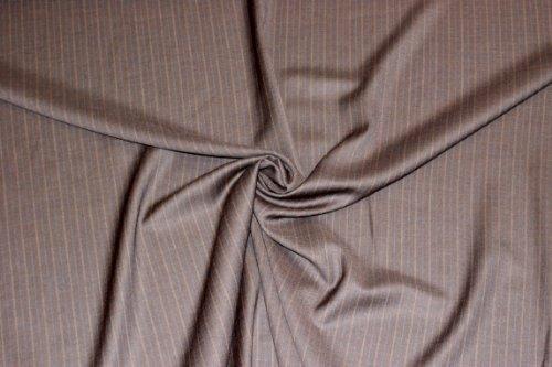 Chor Anzug (Anzugwolle S 100 - Stoff Meterware - 55 % Wolle - 43 % Polyester - 2 % Lycra - Grundton: braun)