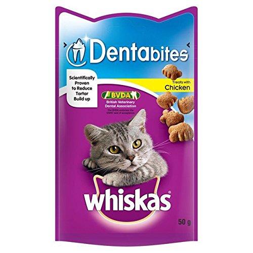 Whiskas Dentabites Katze Behandelt Huhn 50G (Packung mit 2)