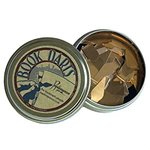 Bookdarts bookmarks - 50 count tin - bronze