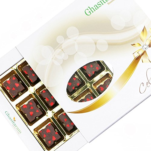 Ghasitaram Gifts Designer Chocolate 12 pcs White Box-200gms