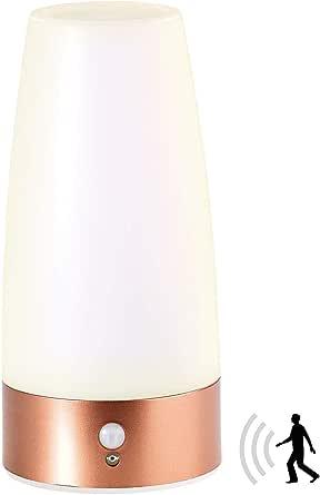 Lunartec Tischlampe Batterie: LED-Tischlampe mit PIR