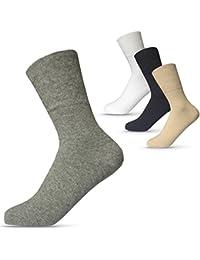 Venen-Socken 85/% Baumwolle Damen Baumwoll-Socken mit Karomuster 6er Pack