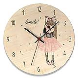 Reloj Salón, Reloj Vintage Silencioso Reloj de Decoración Reloj de Pared para Comedor Cocina,Dibujos Animados Creativo Reloj de Pared Madera 1 12 Pulgadas