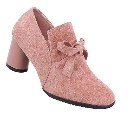 Damen Schuhe Stiefeletten Moderne Pumps Altrosa 38