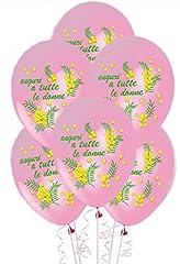 Idea Regalo - ocballoons® Palloncini Festa della Donna 8 Marzo lattice addobbi decorazioni Feste conf.25pz