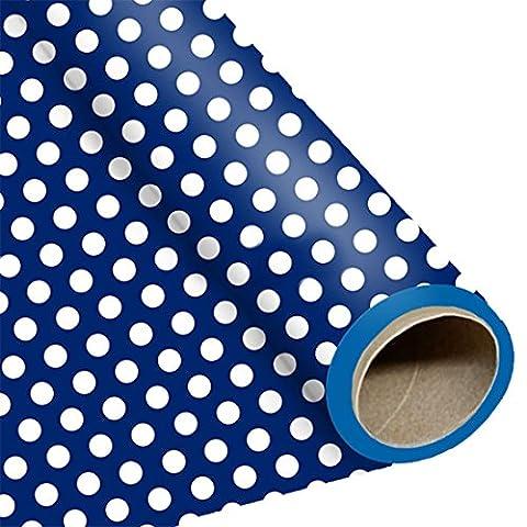 erdbeerloft - Dekoration Geburtstag Party Geschenkpapier Punkte, Blau (Schmetterling Tuch Lätzchen)