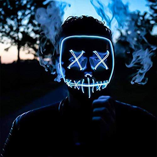 Yilyln LED Purge Maske mit 3 Blitzmodi für Halloween Fasching Karneval Party Kostüm Cosplay Dekoration ()