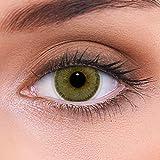 """Stark deckende natürliche braune Kontaktlinsen farbig """"Natural Hazel"""" + Behälter von LENZOTICA I 1 Paar (2 Stück) I DIA 14.00 I ohne Stärke I 0.00 Dioptrien"""