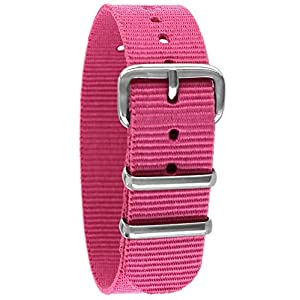 Pacific Time Unisex Nylon Uhrenarmband 10002