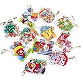 Toyvian 20pcs Christmas Greeting Cards Xmas Tree Hanging Ornaments Party Decorations Gift (Random)