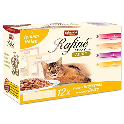 Animonda Cat Portionsbeutel Rafine Soupe im Multipack   96 x 100g