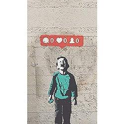 Geiqianjiumai Affiches d'art et tirages photographiques sur Un Mur de graffitisImprimés sur Toile de garçon Qui pleure, Qui pleure