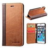 Lensun iPhone 6 Hülle iPhone 6s Hülle, Handyhülle iPhone 6/6s (4.7 Zoll) Leder Handytasche Huelle Tasche Flip Case Ledertasche Schutzhülle - Braun (6G-FG-BN)