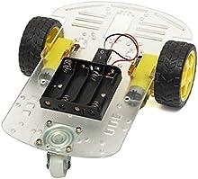 Conjunto de chasis del coche - TOOGOO(R)Caja de nuevo 2WD motor inteligente del robot del chasis del coche de bateria codificador de la velocidad para Arduino